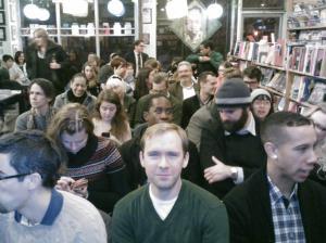 the tremendous pre-reading crowd!